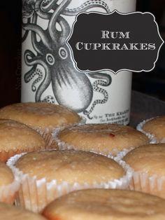 Rum Cupkrakes (with Kraken Rum)