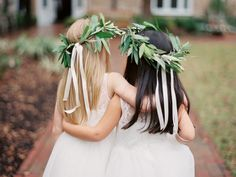 Flower girls in white: http://www.stylemepretty.com/2016/06/20/steal-the-look-morgan-stewarts-glam-all-white-wedding/