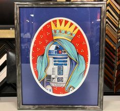 May the Force be with you today. #art #pictureframing #customframing #denver #colorado #r2d2 #starwars