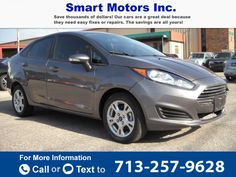 2014 *FORD*  *FIESTA* *SE*   30k miles $3,900 30930 miles 713-257-9628 Transmission: Automatic  #FORD #FIESTA SE #used #cars #SmartMotors #Houston #TX #tapcars