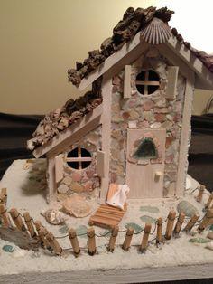 Handmade coastal fairy beach cottage by Abizarrebazaar on Etsy, $95.00
