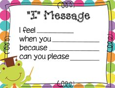 Mrs. Solis's Teaching Treasures: I Message Poster