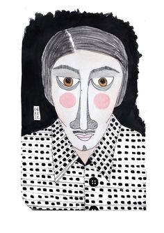 Unforgettable Faces  I don't know why you always remember some faces.Nameless strangers with Unknown faces.But just sometimes in a crowd you happen to casually glance at an unfamiliar face that is so distinctive and vivid, you almost feel it calling out to you.There is just a moment of connection and then it passes, I don't know why.  Ink and Watercolor on Paper