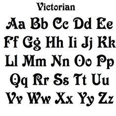 Victorian Font MDF Letters