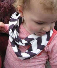 Baby Toddler Child Eggplant Purple Chevron Scarf by ChevronScarf