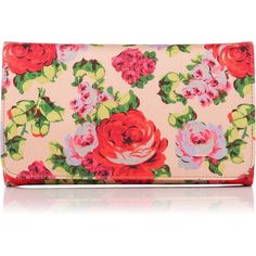 L.K. Bennett Daisy Vintage Floral Print Clutch ($305) ❤ liked on Polyvore