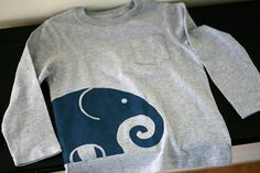 Elephant Freezer Paper Stencil