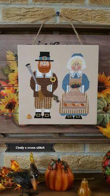 Cross Stitch Inspiration By Cindy DeRosa: Stitching meetup and a save Fall Cross Stitch, Cross Stitch Finishing, Lizzie Kate, Plastic Canvas, Fall Crafts, Cross Stitching, Needlepoint, 4th Of July, Needlework