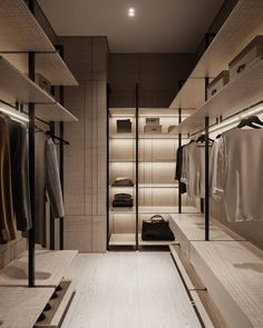 Walk In Wardrobe Design, Wardrobe Door Designs, Open Wardrobe, Wardrobe Room, Wardrobe Cabinets, Closet Designs, Armoire, Closet Lighting, Screen Design