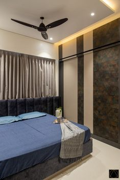 Apartment Interior In Ahmedabad Elevates The Space with Soft Elements | De' Uja Designs - The Architects Diary Living Area, Living Room Decor, Wardrobe Design Bedroom, Ahmedabad, Apartment Interior, Bedroom Storage, Interior Design Services, Architects, Master Bedroom