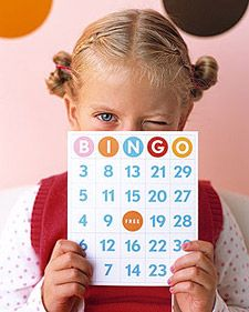 Any one up for Bingo? This is an easy how-to project. Great for kids or even as an elderly project! marthastewartcrafts.com