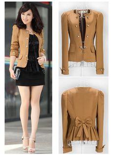 New Fashion Women Slim fit Business Puff Sleeves Suit Blazer Jacket Coat   eBay