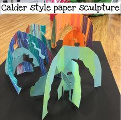 Mrs. Knight's Smartest Artists: Calder inspired paper sculpture, 1st grade