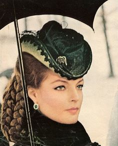 Romy Schneider as Sissi (Ludwig); such a strong woman and I love her look as an…