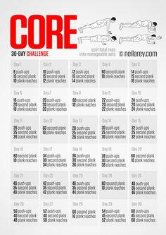 Core Challenge - Small daily goals that add up to great benefits!