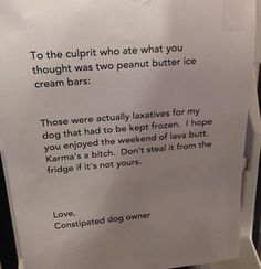 Think twice before stealing food from your office…