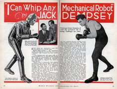 Jack Dempsey boasted he could tear apart a robot opponent