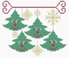 Gallery.ru / smiling christmas trees