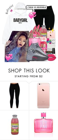 """""""Baby girl 💕"""" by brandylovebrandy ❤ liked on Polyvore featuring VFiles, FRUIT, Victoria's Secret PINK and Lime Crime"""