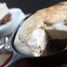 S'mores Pie - This looks and sounds so over the top decadent but it's actually made with wholesome ingredients. Marshmallow topping with chocolate custard and a grain-free Graham cracker crust.