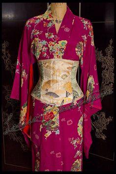 Louise Black obi corset