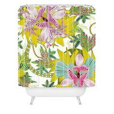 Sabine Reinhart Life Is Music Shower Curtain   DENY Designs Home Accessories