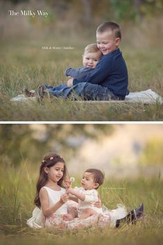 Photography: Sibling Poses - The Milky Way Family Photography Posing Ideas: Sibling Poses The Milky Way Sibling Photography Poses, Outdoor Family Photography, Kids Photography Boys, Sibling Photos, Sibling Photo Shoots, Cat Photography, Family Photos With Baby, Family Picture Poses, Family Posing