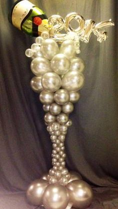 champagne glass balloon sculpture - Google Search