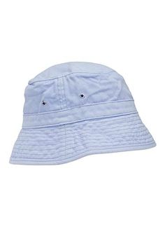 b8f2a9fbce8 Basic pull on bucket hat with eyelets. Perfect every day hat for summer.  Available