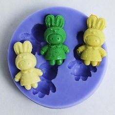 qinxi Bunnies Shaped Fondant Cake Chocolate Silicone Mold Cupcake Decoration Tools,L5.6cm*W5.6cm*H1cm * More infor at the link of image  : Candy Making Supplies