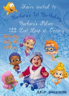 BUBBLE GUPPIES Invitations birthday invitations Printable Invitations diy Invitations Children custom Invitations