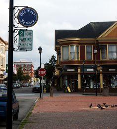Old Town Eureka, California.  http://bwcountryinnfortuna.com/