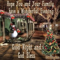 GOODNIGHT AND GOD BLESS ALL OF YOU !!!!