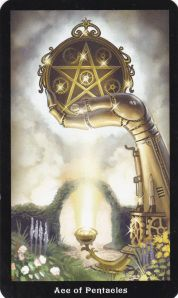 Ace of Pentacles Steampunk Tarot
