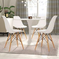 Laurel Foundry Modern Farmhouse Moravia Kitchen Island & Reviews | Wayfair Solid Wood Dining Chairs, Upholstered Dining Chairs, Dining Chair Set, Table And Chairs, Side Chairs, Nook Table, Counter Height Dining Table, Extendable Dining Table, Dining Area