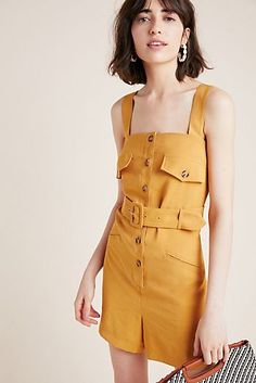 Sunshine Button-Front Romper by First Monday in Yellow Size: M, Women's Shorts at Anthropologie Older Women Fashion, Fashion Tips For Women, Dressy Shorts, Women's Shorts, Boho Outfits, Summer Outfits, East Coast Fashion, Boho Fashion, Fashion Trends