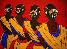 Discover great art by contemporary artist Jiaur Rahman. Browse artworks, buy original art or high end prints. Indian Folk Art, Indian Artist, Indian Contemporary Art, Modern Art, Indian Art Paintings, Dance Paintings, Acrylic Paintings, Oil Paintings, Madhubani Art