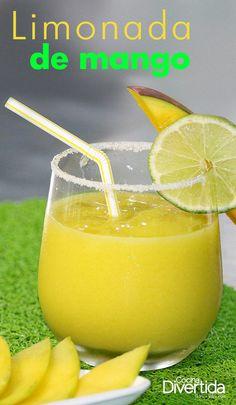 Ingredientes --> RINDE 4 PERSONAS  3 copitas de jugo de limón 2 tazas de mango biche picado 3 cucharadas de azúcar 3 tazas de hielo Refreshing Drinks, Summer Drinks, Cocktail Drinks, Fun Drinks, Healthy Drinks, Cocktail Recipes, Cocktails, Veggie Recipes, Mexican Food Recipes