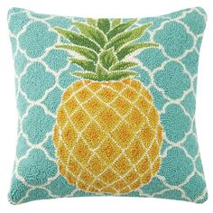 Found it at Wayfair - Pineapple Hook Wool Throw Pillow Wool Pillows, Cotton Pillow, Cushions, Pineapple Room, Easy Home Decor, Throw Pillow Sets, Pillow Talk, Outdoor Throw Pillows, Accent Pillows