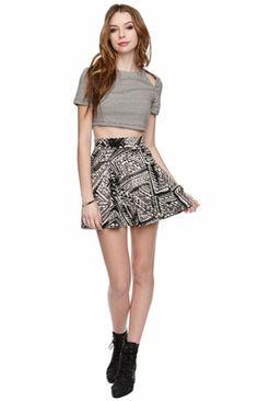 Tribal Skater Skirt- PacSun
