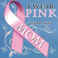 I Wear Pink for my Mom.png Mens V-Neck T-Shirt