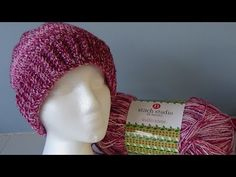 Ruby Red Hat Pattern #515  Quick and Easy Single crochet - YouTube