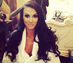 Wedding belle: Alice Goodwin uploaded photos to her Instagram account before the ceremony
