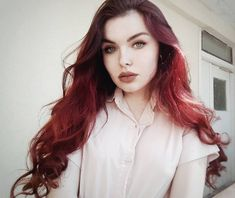 Baby, I'm a sociopath, Sweet serial killer. On the warpath 'Cause I love you just a little too much🔪 ___________________________________… Dark Red Hair, Red Hair Color, Burgundy Color, Hair Colors, Sociopath, Love You, My Love, Just A Little, Serial Killers