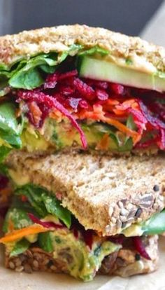 The Ultimate Veggie Sandwich: flavor, crunch + mouth-watering color (vegan).