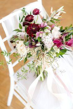 Elegant Marsala Wedding Featured On Midwest Bride