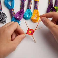 Teeny Ojo De Dios Craft Kit by Craft-tastic® Asst Colors Yarn Crafts For Kids, Crafts For Teens To Make, Crafts To Sell, Diy And Crafts, Bead Crafts, Jewelry Crafts, Plate Crafts, God's Eye Craft, Hippie Crafts