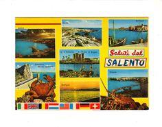 CPM - CARTOLINA - ITALIE- SALUTI DAL SALENTO - MULTIVUE(7)