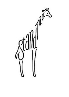 Stand Tall Giraffe. Love this!