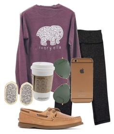 """""""i want everything on here sooo bad"""" by sofiaestrada ❤ liked on Polyvore featuring lululemon, Sperry Top-Sider, Ray-Ban and Kendra Scott"""